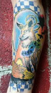 Fox tattoo, as shown in carousel slideshow
