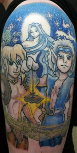 ElfQuest tattoo, as shown in carousel slideshow