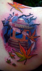 Japanese Maple tattoo, as shown in carousel slideshow